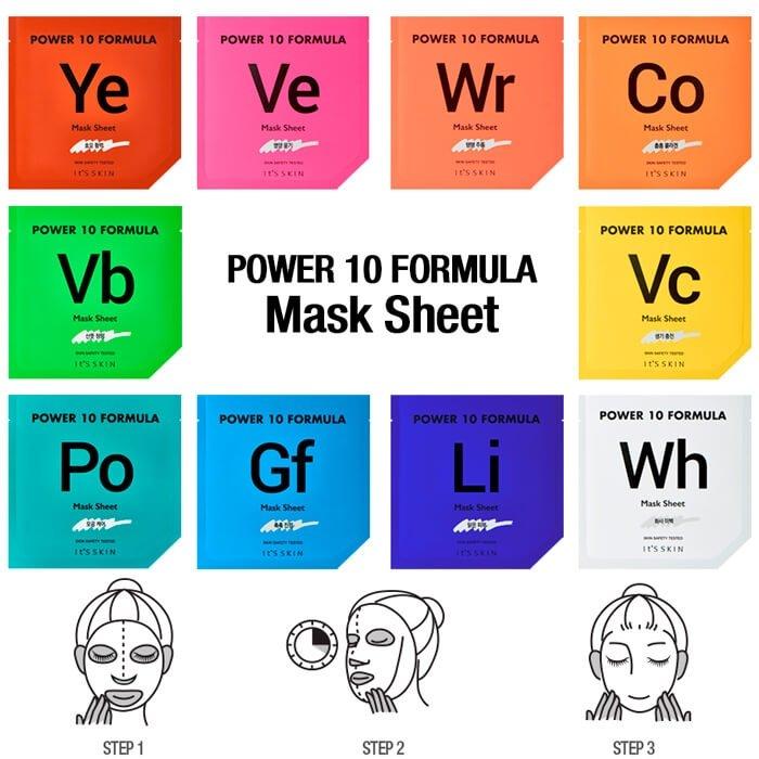 Тканевая маска It's Skin Power 10 Formula Wh Mask Sheet