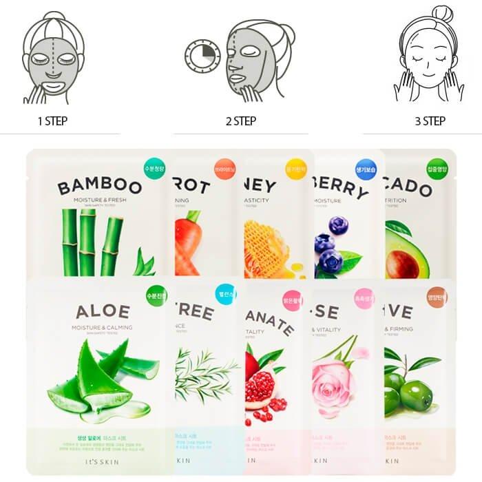 Тканевая маска It's Skin The Fresh Bamboo Mask Sheet
