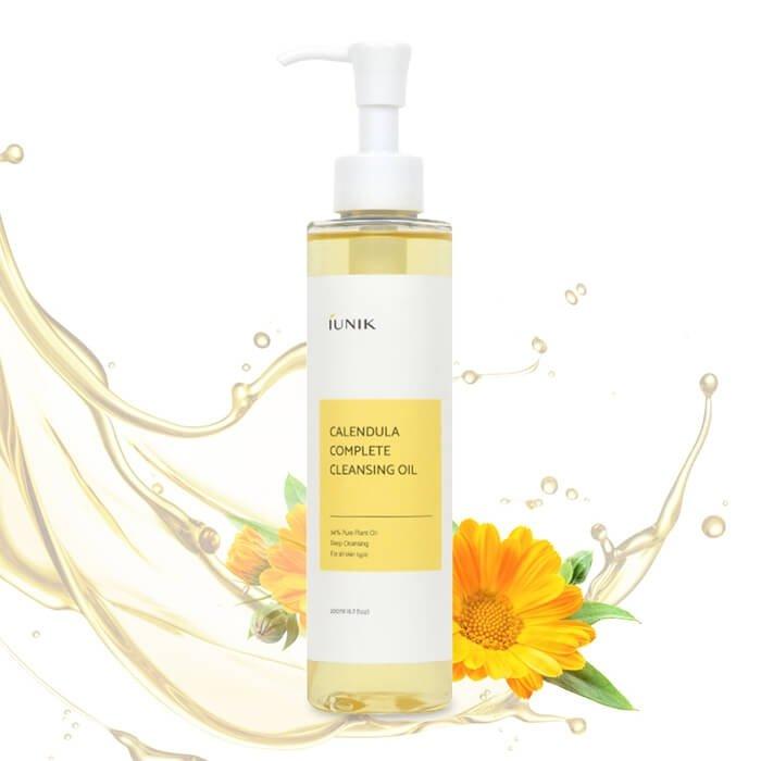 Гидрофильное масло iUNIK Calendula Complete Cleansing Oil