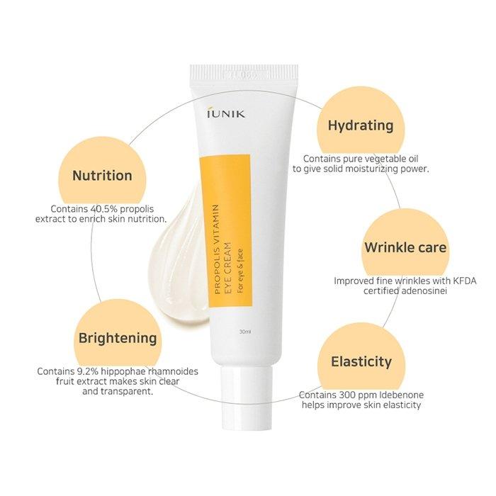 Крем для век iUNIK Propolis Vitamin Eye Cream