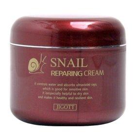 Крем для лица Jigott Snail Reparing Cream
