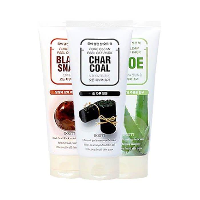 Маска-плёнка Jigott Black Snail Pure Clean Peel Off Pack