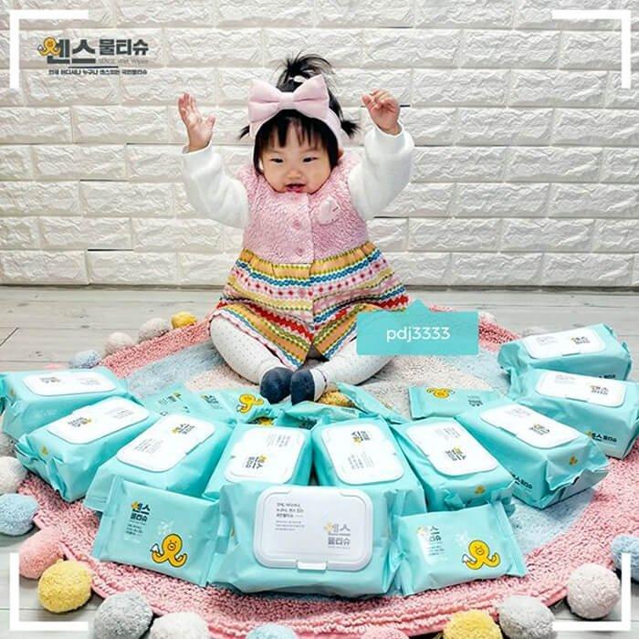 Влажные салфетки Joong Won Sense Secret Day Wet Wipes (100 шт)
