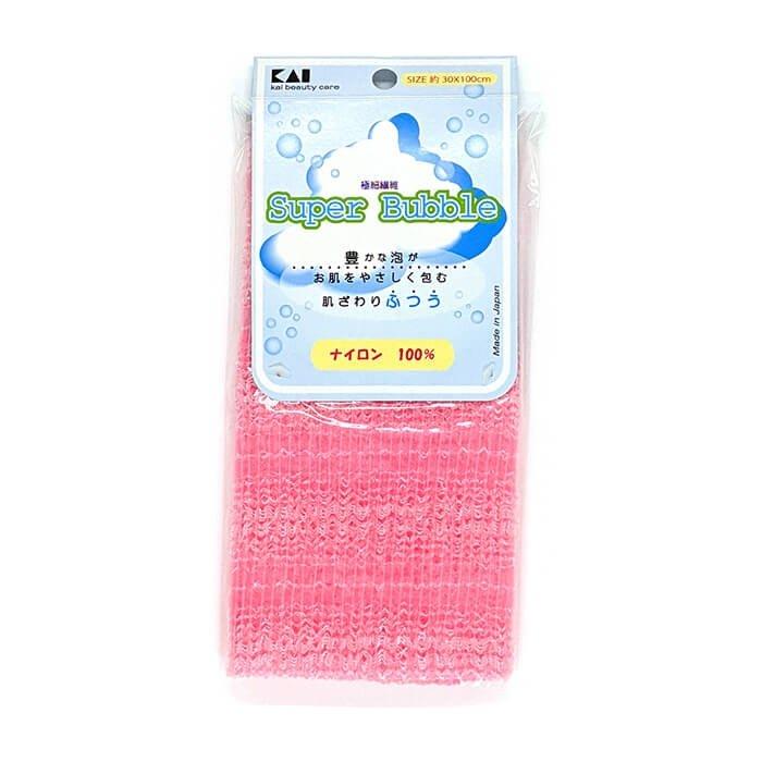 Мочалка для душа Kai Super Bubble Soft Pink