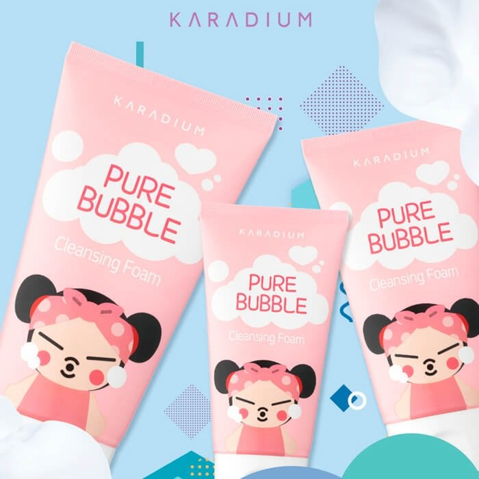 Очищающая пенка Karadium Pucca Pure Bubble Cleansing Foam