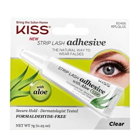 Клей для ресниц Kiss Strip Lash Adhesive with Aloe Clear (KPLGL05)