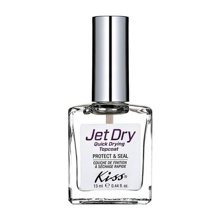 Верхнее покрытие для ногтей Kiss Jet Dry Quick Drying Topcoat (KTR19F)