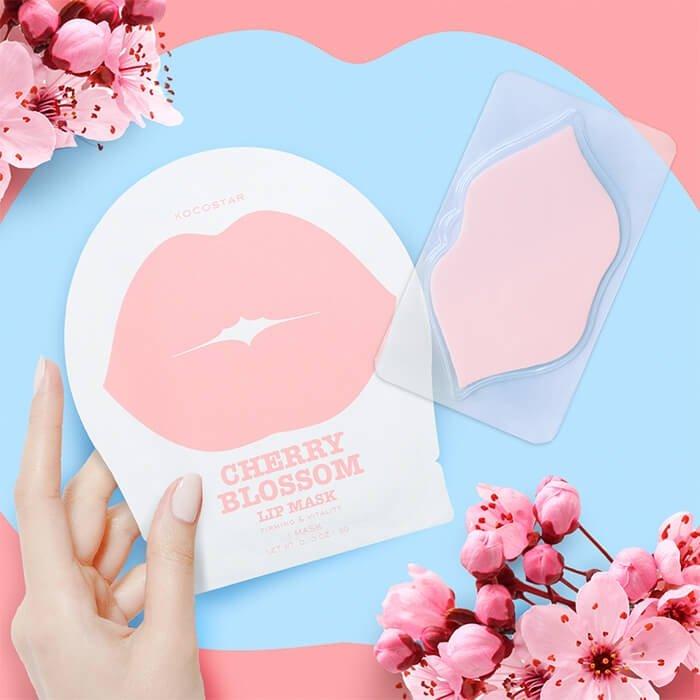 KOCOSTAR, KOCOSTAR Cherry Blossom Lip Mask, KOCOSTAR Cherry Blossom Lip Mask รีวิว, KOCOSTAR Cherry Blossom Lip Mask ราคา, KOCOSTAR Cherry Blossom Lip Mask Single, KOCOSTAR Cherry Blossom Lip Mask Single 3 g., มาสก์ปากแบบเจลลี่