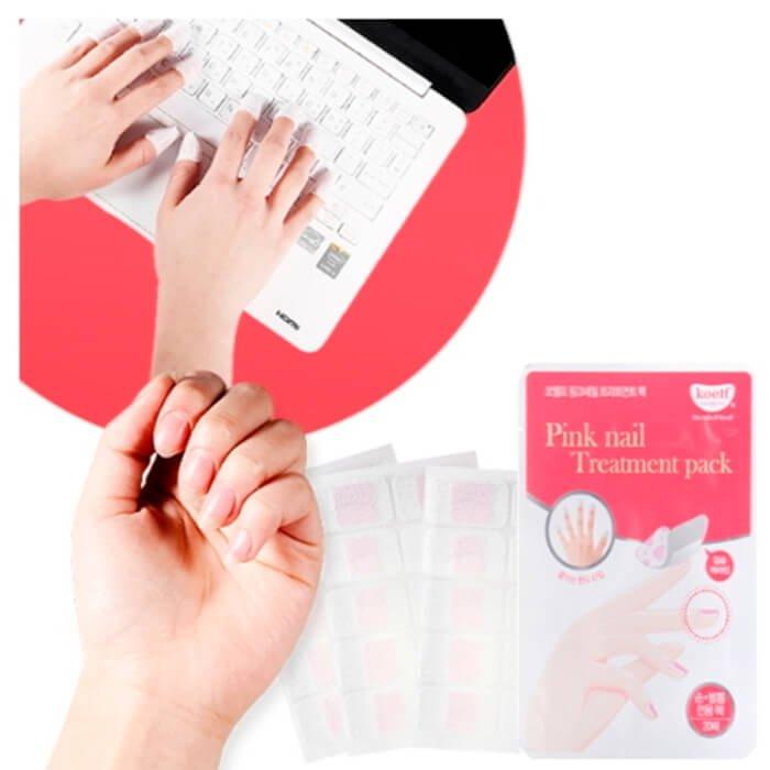 Маска для ногтей Koelf Pink Nail Treatment Pack