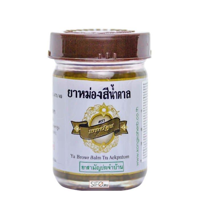 Бальзам для тела Kongka Ya Brown Balm Tra Aekprathom