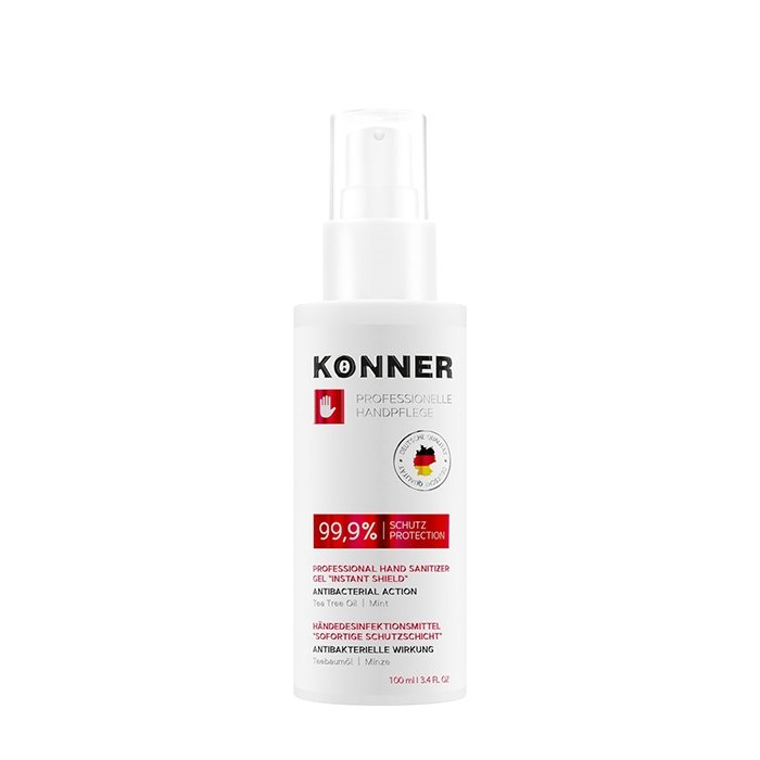 Гель-антисептик для рук Konner Professional Hand Sanitizer Gel Instant Shield (с дозатором, 100 мл)