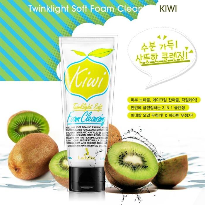 Очищающая пенка Ladykin Twinklight Soft Foam Cleansing - Kiwi