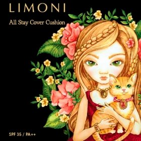 Кушон для лица Limoni All Stay Cover Cushion - Animal Princess