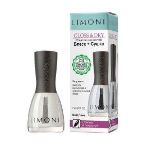 Основа и покрытие для ногтей Limoni Gloss & Dry
