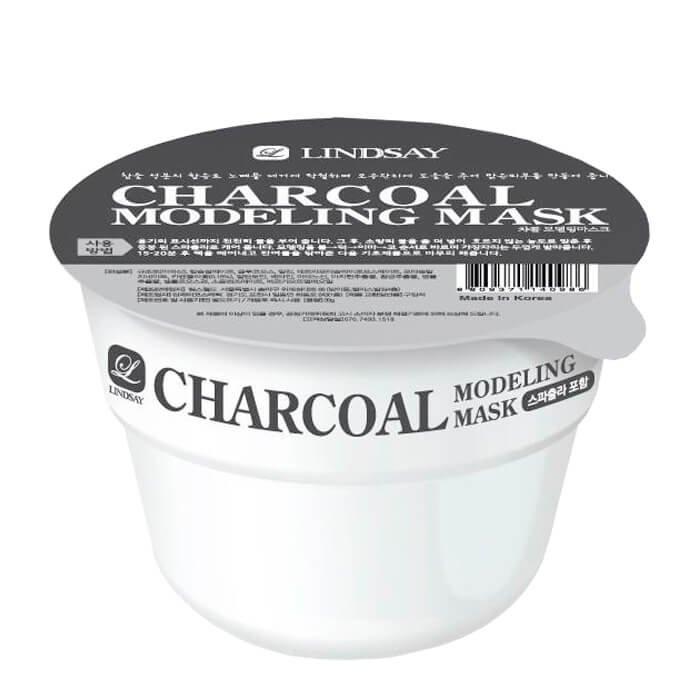 Альгинатная маска Lindsay Charcoal Modeling Mask Cup Pack