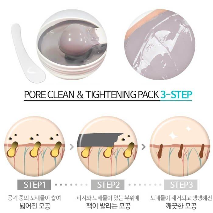 Глиняная маска Lioele Pore Clean & Tightening Pack