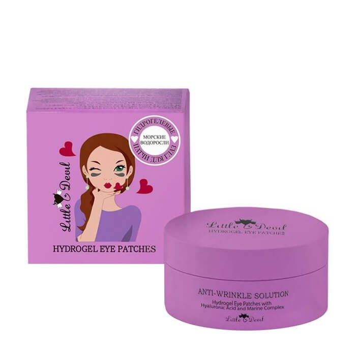 Патчи для век Little Devil Anti-Wrinkle Solution Hydrogel Eye Patches with Hyaluronic Acid & Marine Complex
