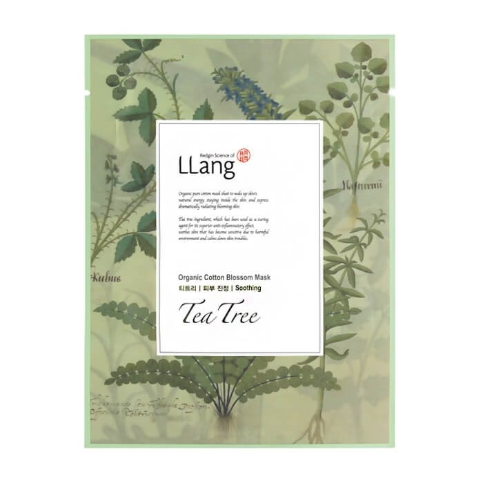 Тканевая маска Llang Organic Cotton Blossom Mask - Tea Tree
