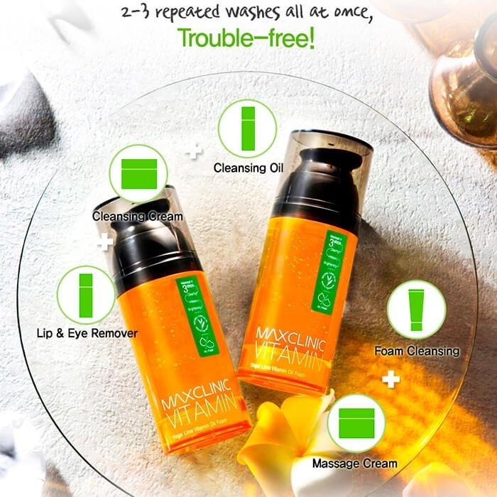 Очищающая пенка Maxclinic Finger Lime Vitamin Oil Foam Cleanser