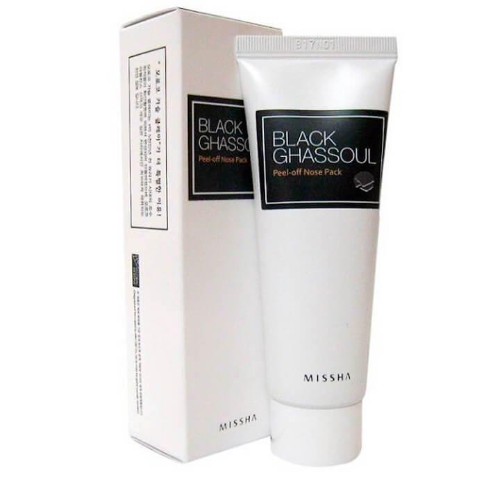 Маска для носа Missha Black Ghassoul Peel Off Nose Pack
