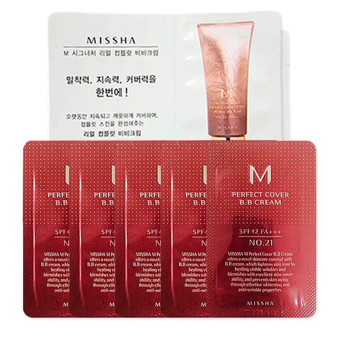 Набор пробников ВВ кремов Missha M Perfect Cover & Signature Real Complete