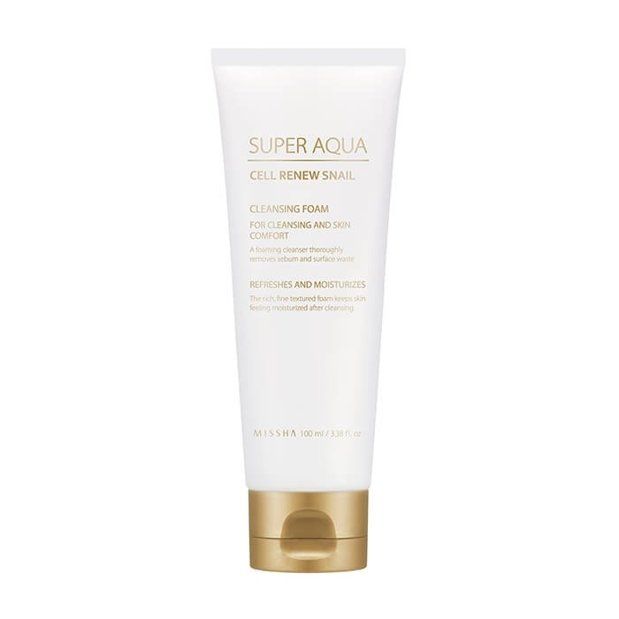 Очищающая пенка Missha Super Aqua Cell Renew Snail Cleansing Foam