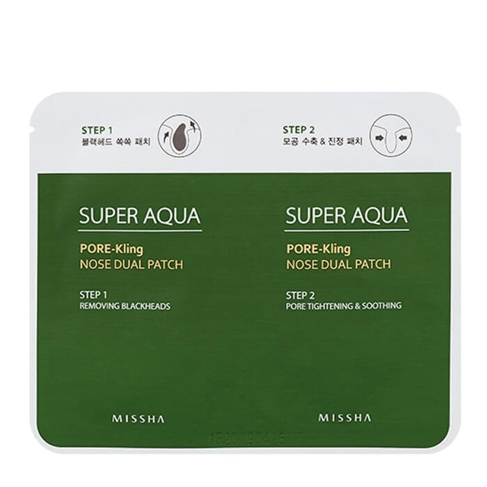 Патч для носа Missha Super Aqua Pore Kling Nose Dual Patch