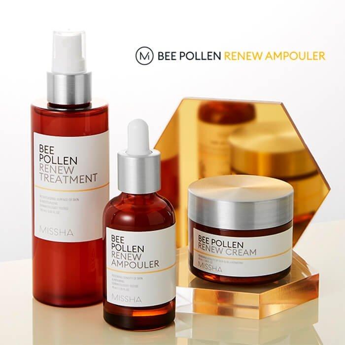 Сыворотка для лица Missha Bee Pollen Renew Ampouler