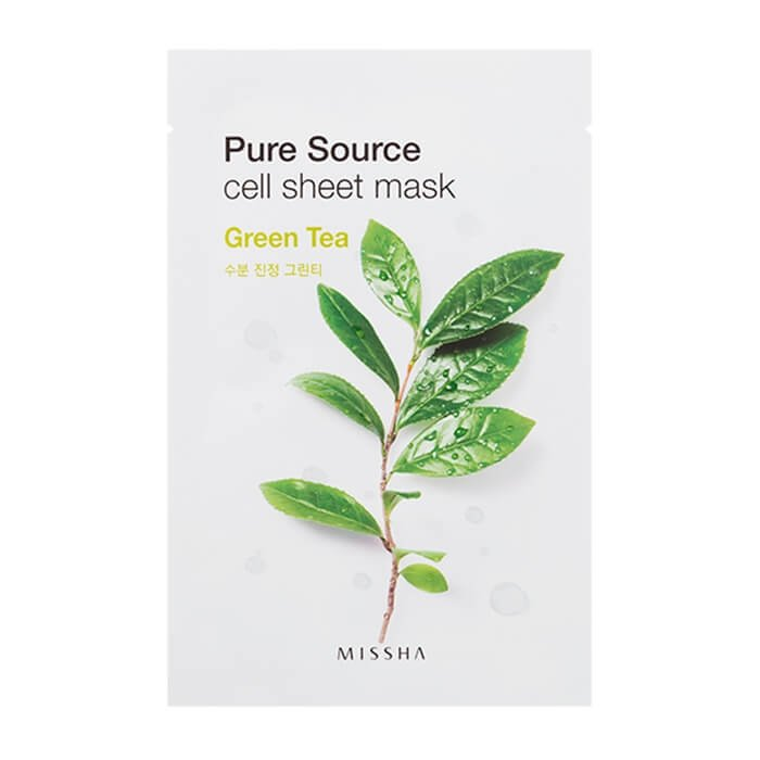 Тканевая маска Missha Pure Source Cell Sheet Mask - Green Tea