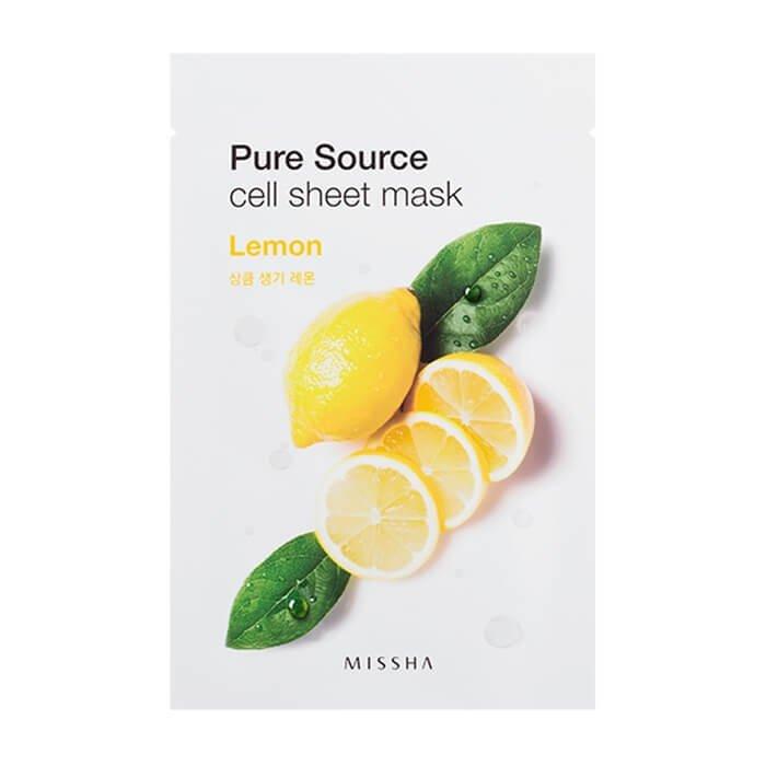Тканевая маска Missha Pure Source Cell Sheet Mask - Lemon
