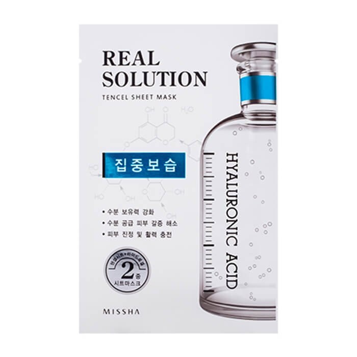 Тканевая маска Missha Real Solution Tencel Essential Sheet Mask - Hyaluronic Acid