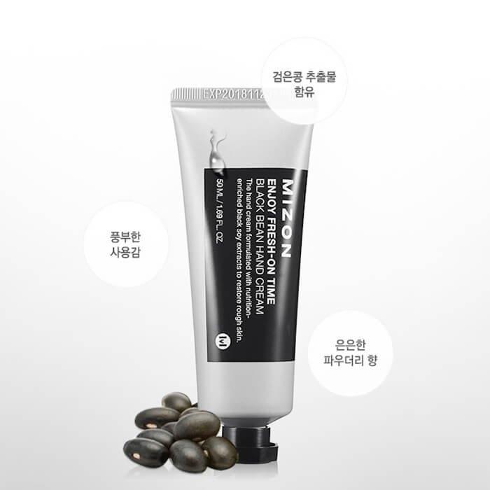 Крем для рук Mizon Black Bean Hand Cream