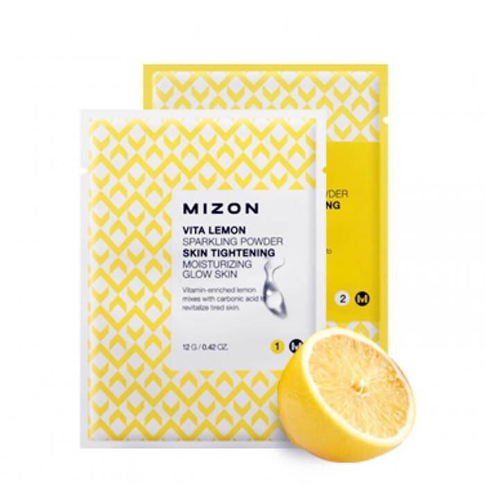 Очищающая пудра Mizon Vita Lemon Sparkling Powder