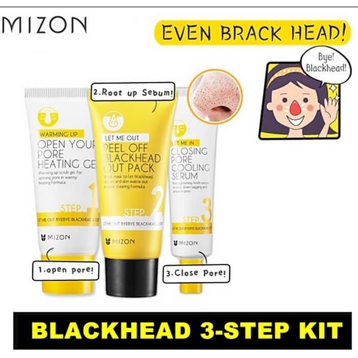 Набор от черных точек Mizon Let Me Out ByeBye Blackhead 3-Step Kit