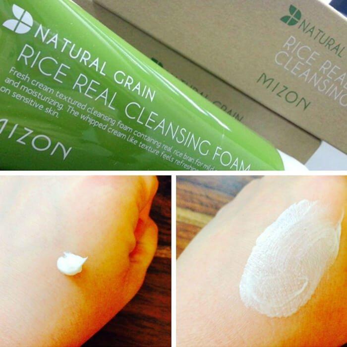 Пенка для умывания Mizon Rice Real Cleansing Foam