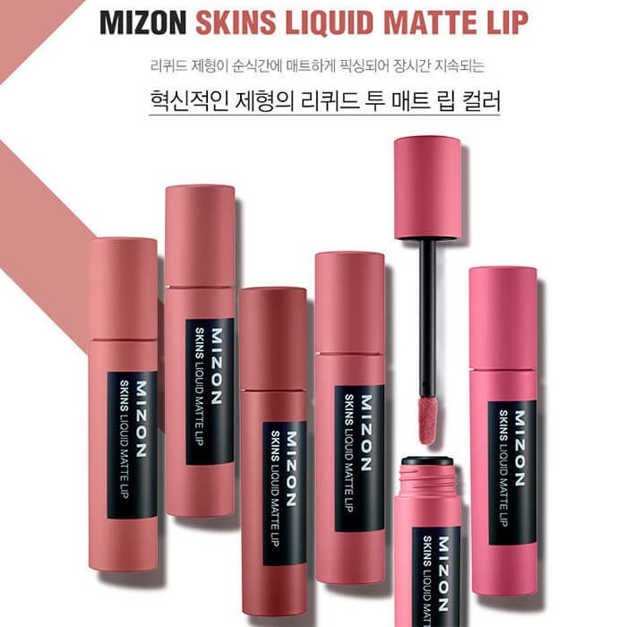 Помада для губ Mizon Skins Liquid Matte Lip