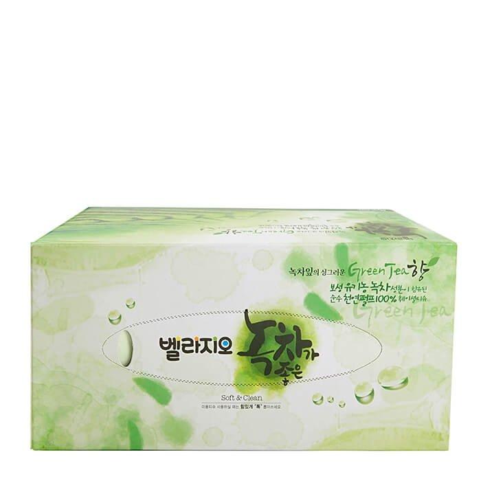 Салфетки для лица Monalisa Bellagio Green Tea Facial Tissue 210 шт