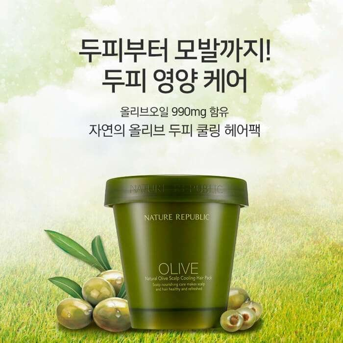 Маска для волос Nature Republic Natural Olive Scalp Cooling Hair Pack