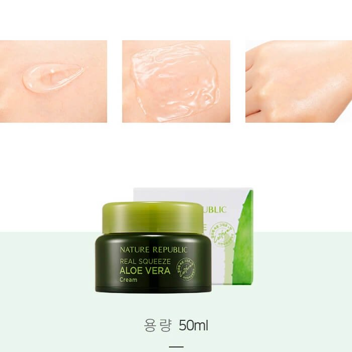Крем для лица Nature Republic Real Squeeze Aloe Vera Cream