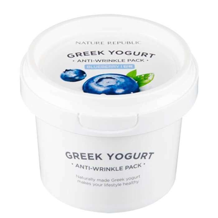 Маска для лица Nature Republic Greek Yogurt Anti-Wrinkle Pack Blueberry