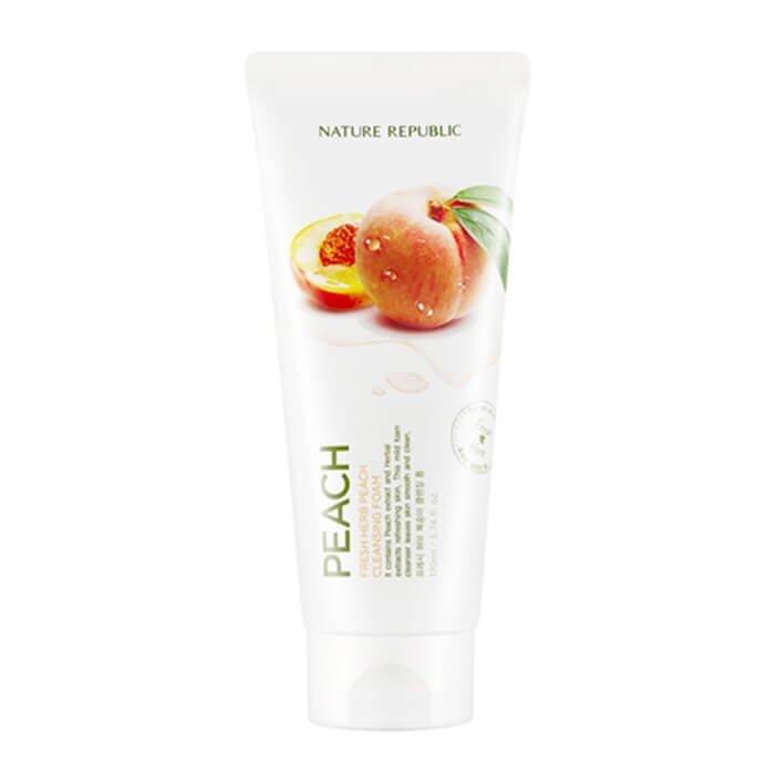 Очищающая пенка Nature Republic Fresh Herb Peach Cleansing Foam