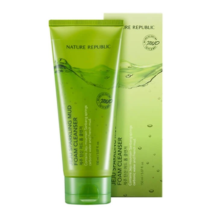 Очищающая пенка Nature Republic Jeju Sparkling Mud Foam Cleanser