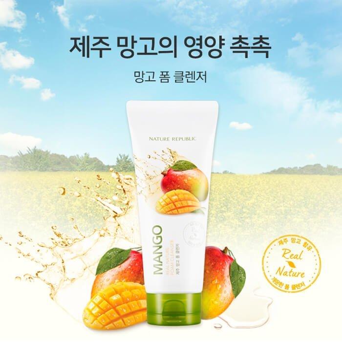 Очищающая пенка Nature Republic Real Nature Mango Foam Cleanser
