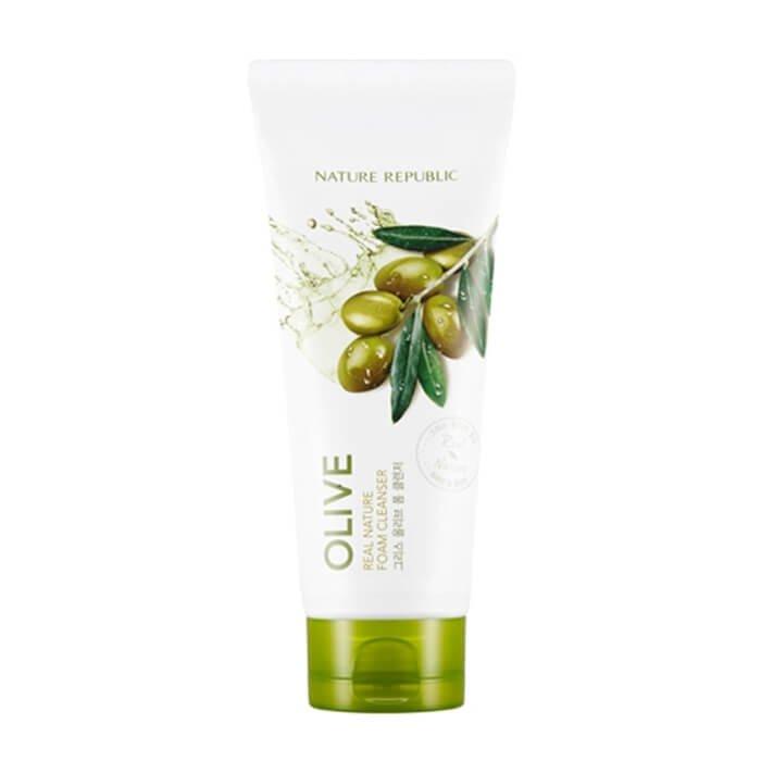 Очищающая пенка Nature Republic Real Nature Olive Foam Cleanser