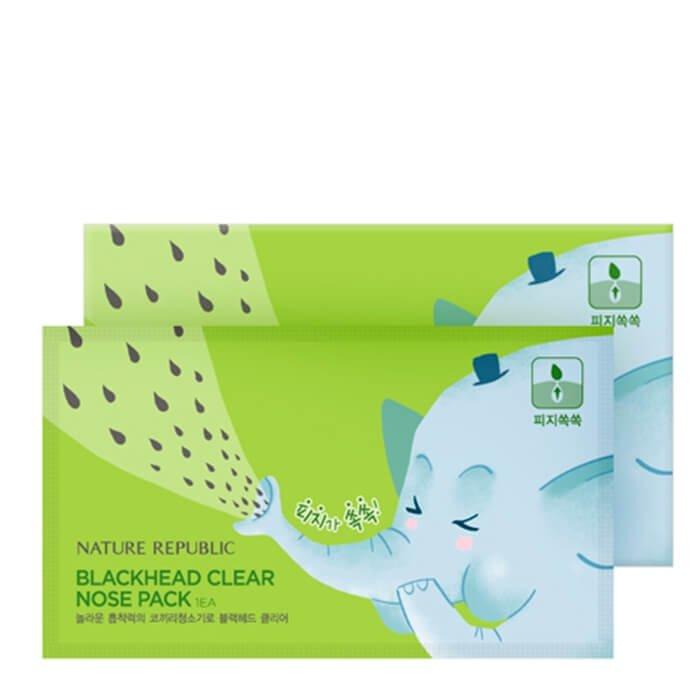 Патчи от чёрных точек Nature Republic Blackhead Clear Nose Pack (7EA)