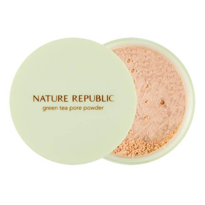 Рассыпчатая пудра Nature Republic Botanical Green Tea Pore Powder
