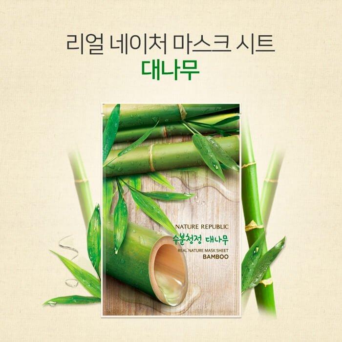 Тканевая маска Nature Republic Real Nature Mask Sheet Bamboo