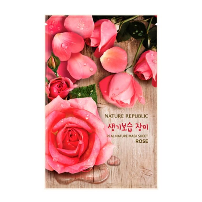 Тканевая маска Nature Republic Real Nature Mask Sheet Rose