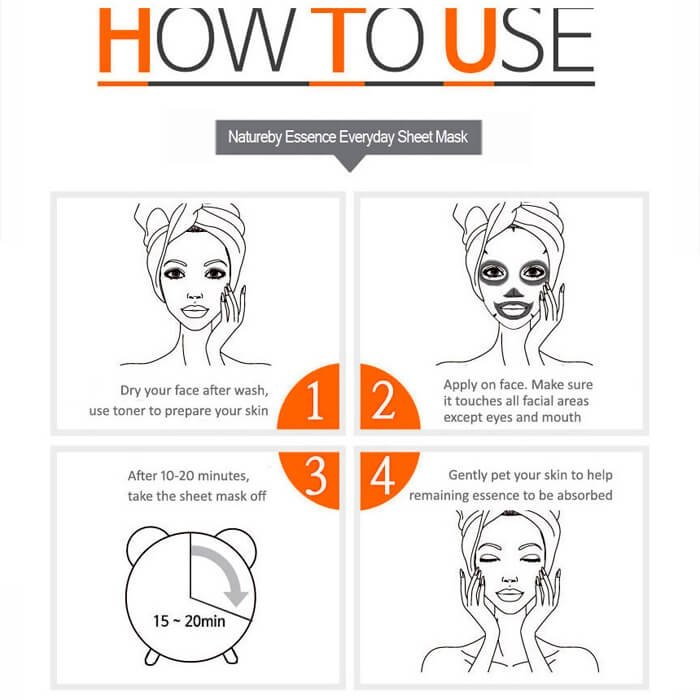 Тканевая маска Natureby Cucumber Essence Mask Sheet