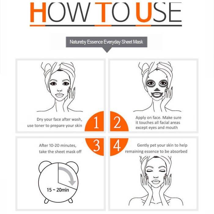 Тканевая маска Natureby Rice Essence Mask Sheet
